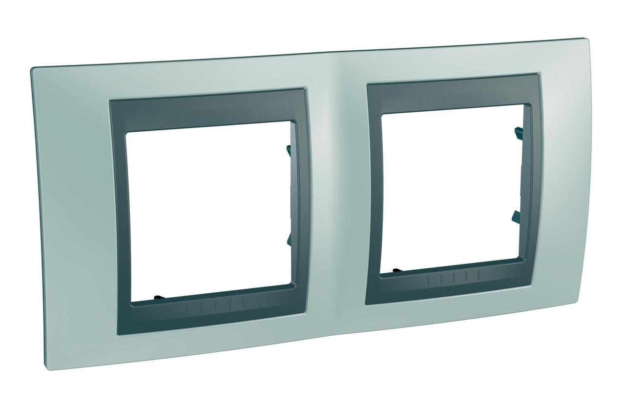 Рамка 2-ая (двойная), Флюорит/Графит (металл), серия UNICA TOP/CLASS, Schneider Electric