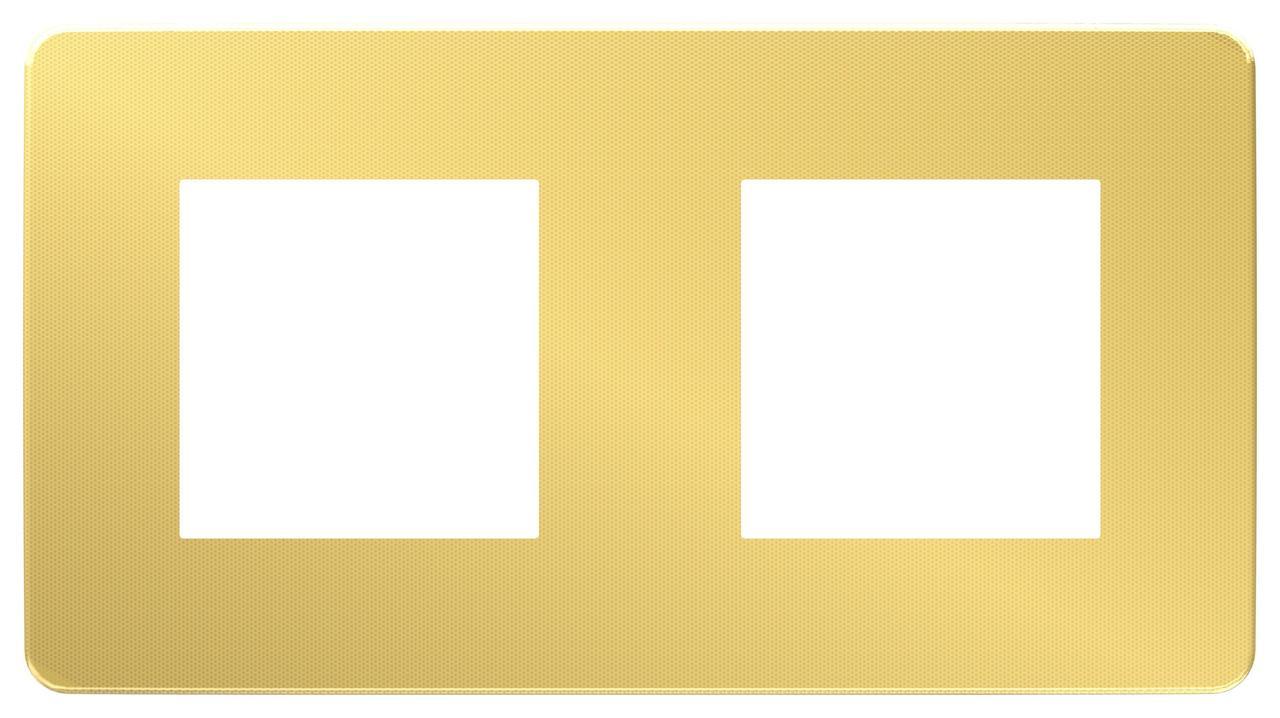 Рамка 2-ая (двойная), Золото/Бежевый, серия Unica Studio, Schneider Electric