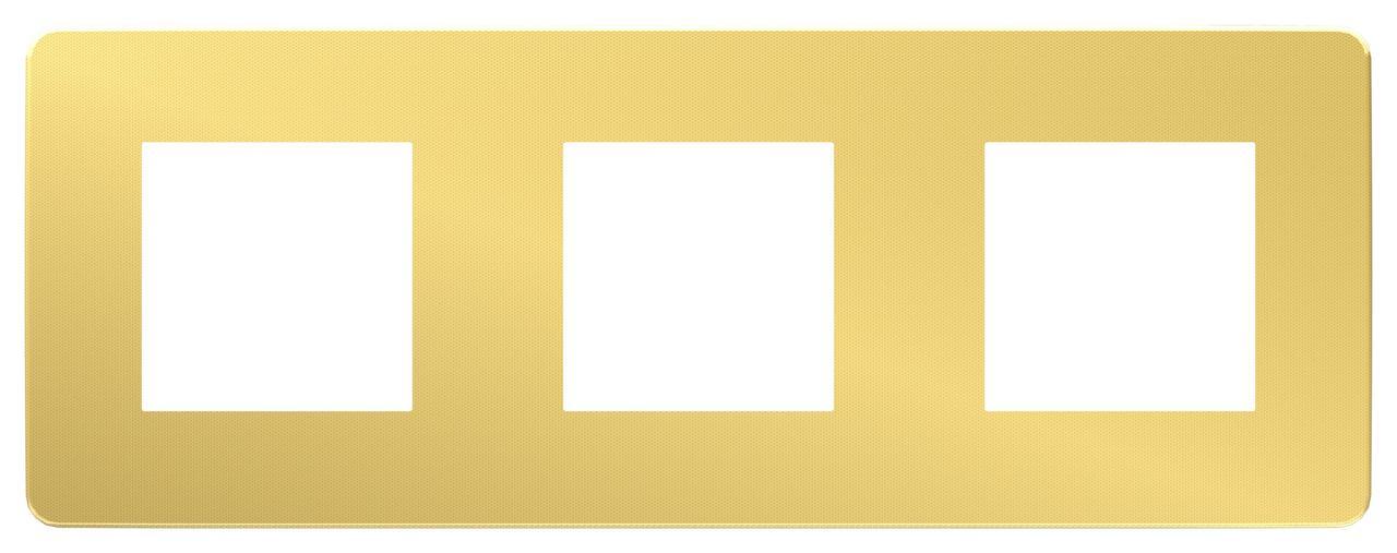 Рамка 3-ая (тройная), Золото/Антрацит, серия Unica Studio, Schneider Electric