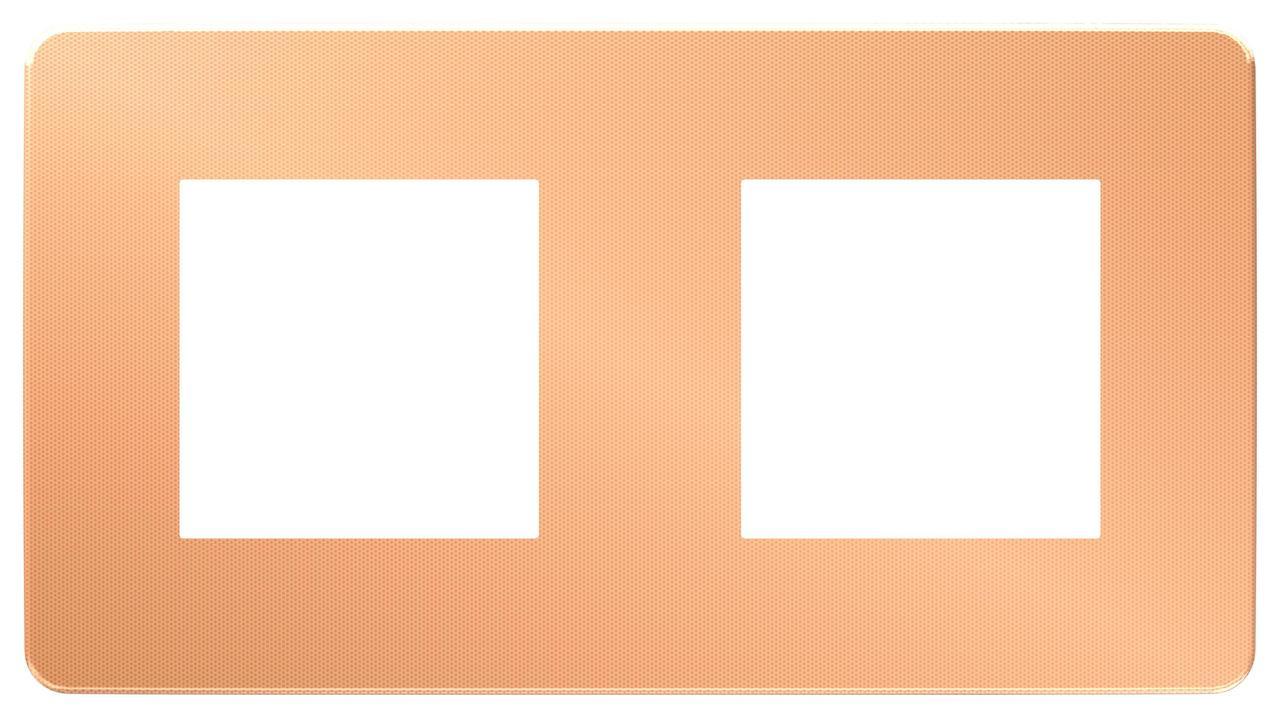Рамка 2-ая (двойная), Медь/Белый, серия Unica Studio, Schneider Electric