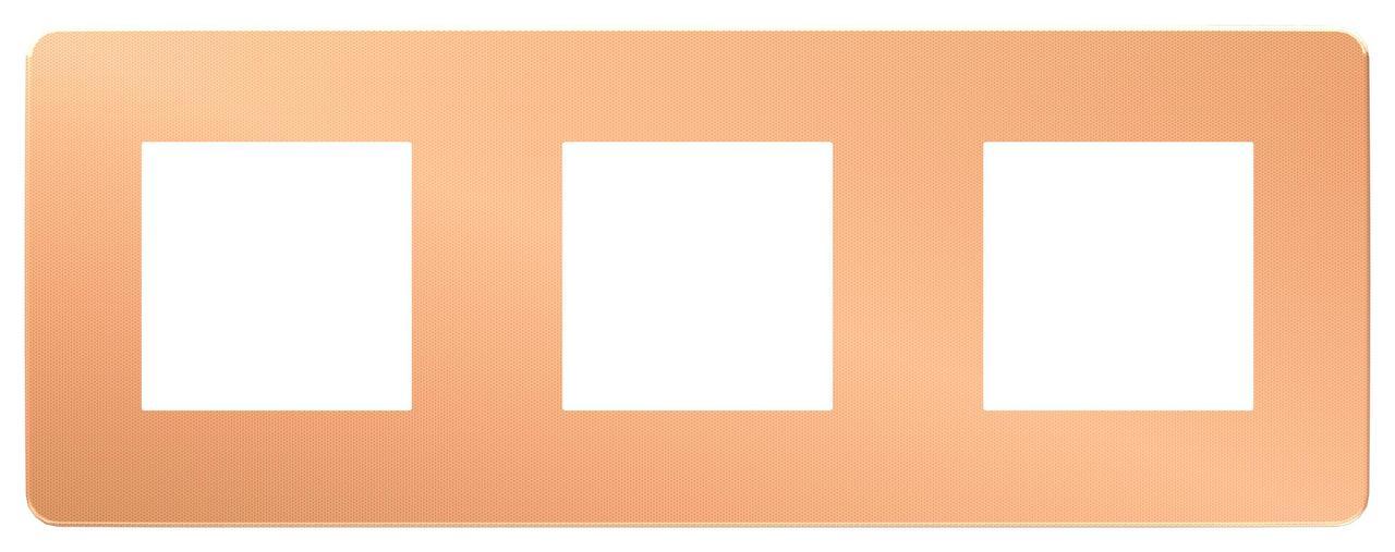Рамка 3-ая (тройная), Медь/Антрацит, серия Unica Studio, Schneider Electric