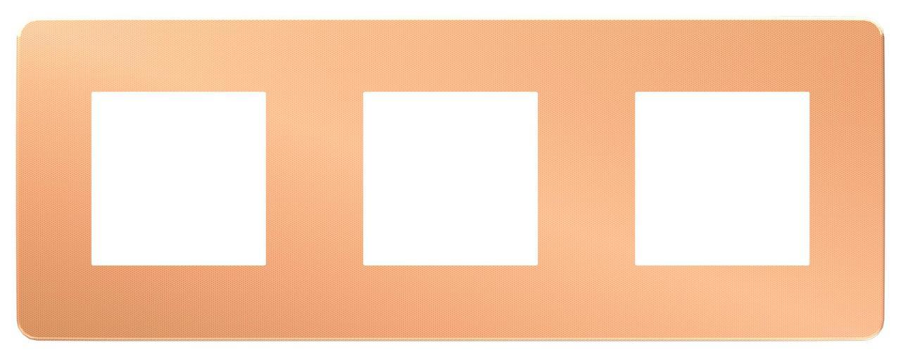Рамка 3-ая (тройная), Медь/Белый, серия Unica Studio, Schneider Electric