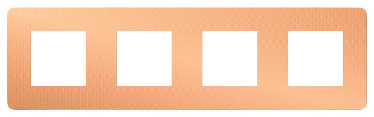 Рамка 4-ая (четверная), Медь/Антрацит, серия Unica Studio, Schneider Electric