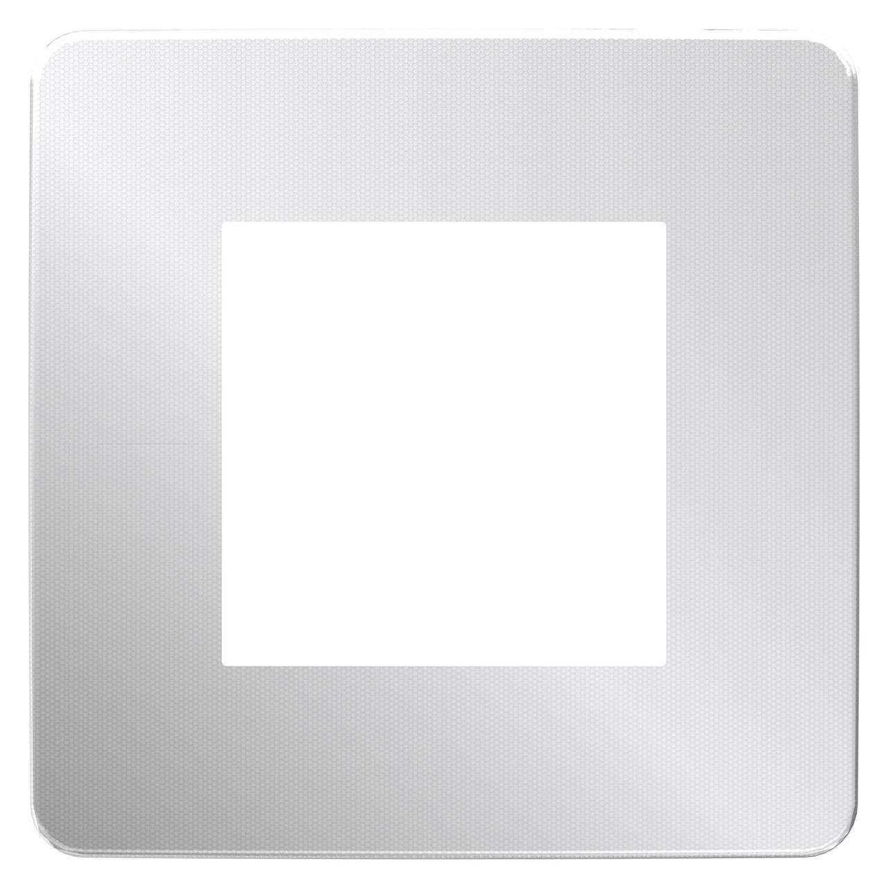 Рамка 1-ая (одинарная), Хром/Белый, серия Unica Studio, Schneider Electric