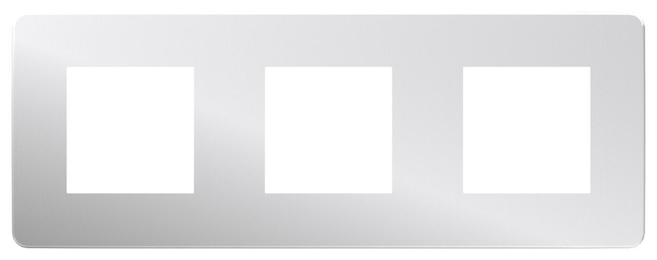 Рамка 3-ая (тройная), Хром/Антрацит, серия Unica Studio, Schneider Electric