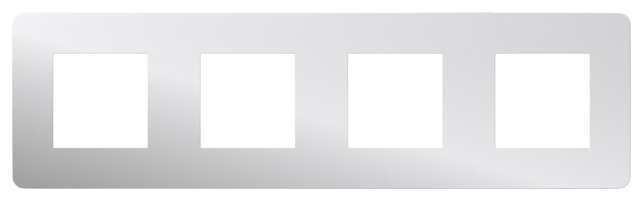 Рамка 4-ая (четверная), Хром/Антрацит, серия Unica Studio, Schneider Electric