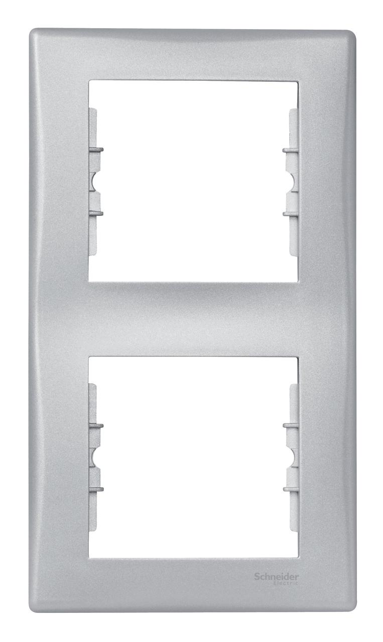 Рамка 2-ая (двойная) вертикальная, Алюминий, серия Sedna, Schneider Electric