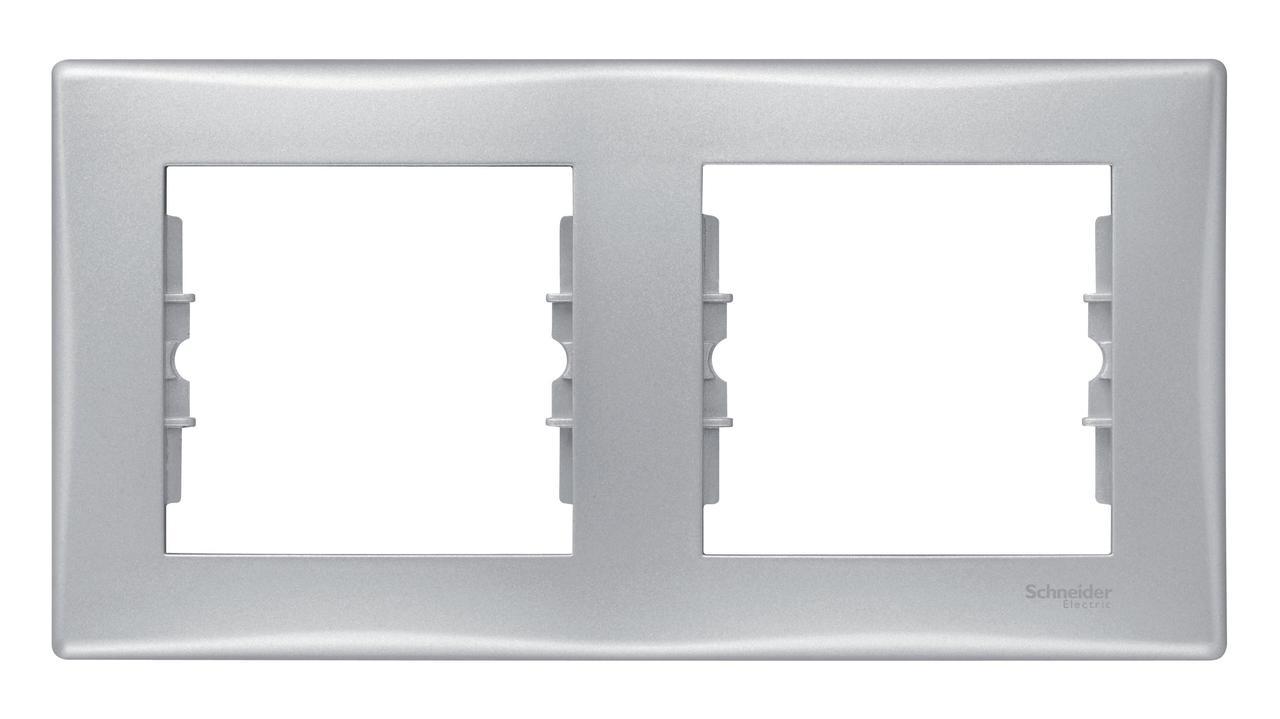 Рамка 2-ая (двойная), Алюминий, серия Sedna, Schneider Electric
