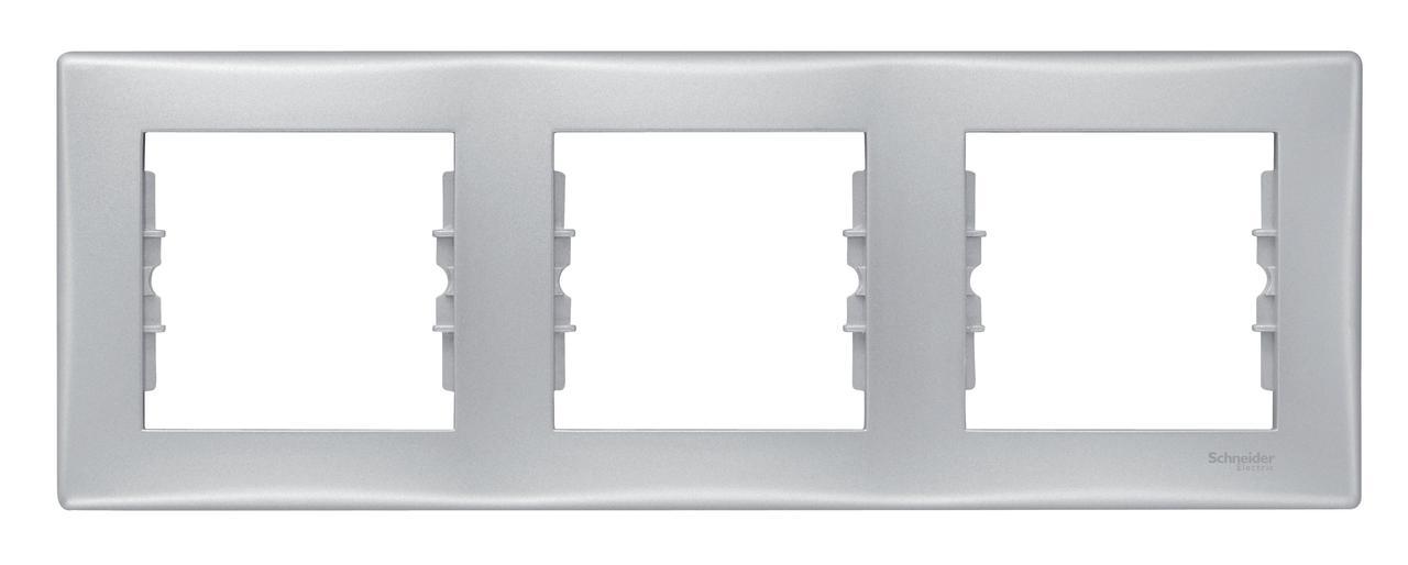 Рамка 3-ая (тройная), Алюминий, серия Sedna, Schneider Electric