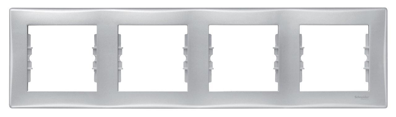 Рамка 4-ая (четверная), Алюминий, серия Sedna, Schneider Electric
