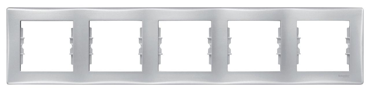 Рамка 5-ая (пятерная), Алюминий, серия Sedna, Schneider Electric
