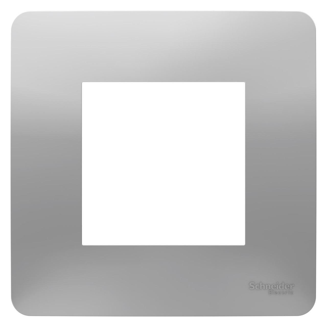 Рамка 1-ая (одинарная), Алюминий, серия Unica Studio, Schneider Electric