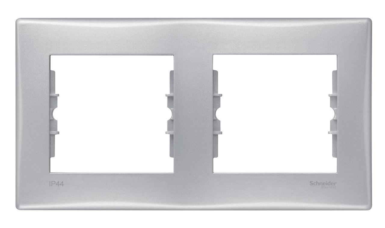 Рамка IP44 2-ая (двойная), влагозащитная, Алюминий, серия Sedna, Schneider Electric