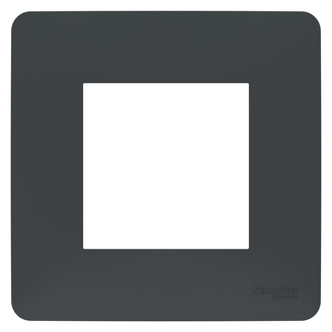 Рамка 1-ая (одинарная), Антрацит, серия Unica Studio, Schneider Electric