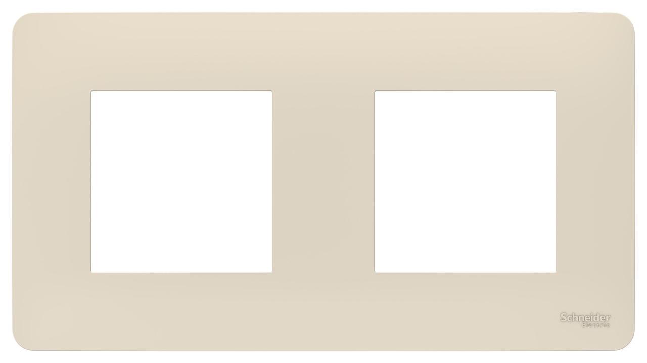 Рамка 2-ая (двойная), Бежевый, серия Unica Studio, Schneider Electric