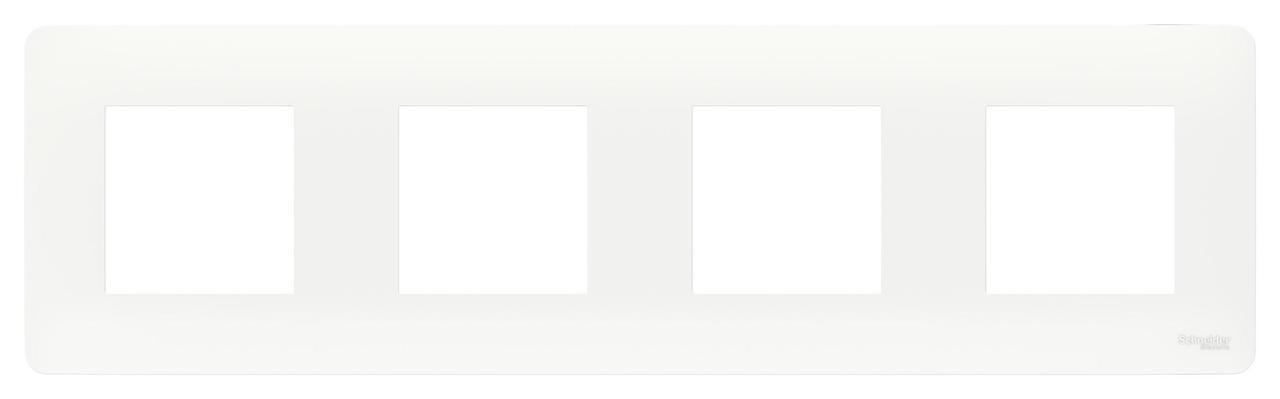 Рамка 4-ая (четверная), Белый, серия Unica Studio, Schneider Electric