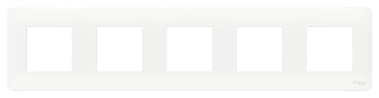 Рамка 5-ая (пятерная), Белый, серия Unica Studio, Schneider Electric