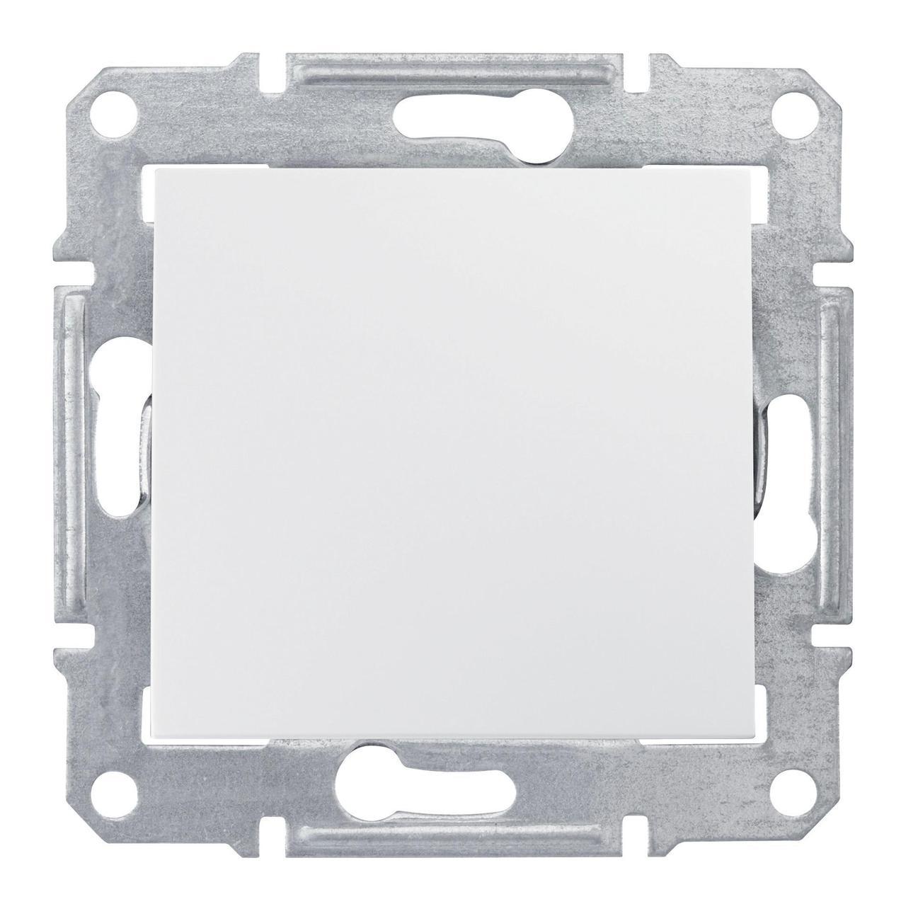 Выключатель 1-клавишный; кнопочный , Белый, серия Sedna, Schneider Electric