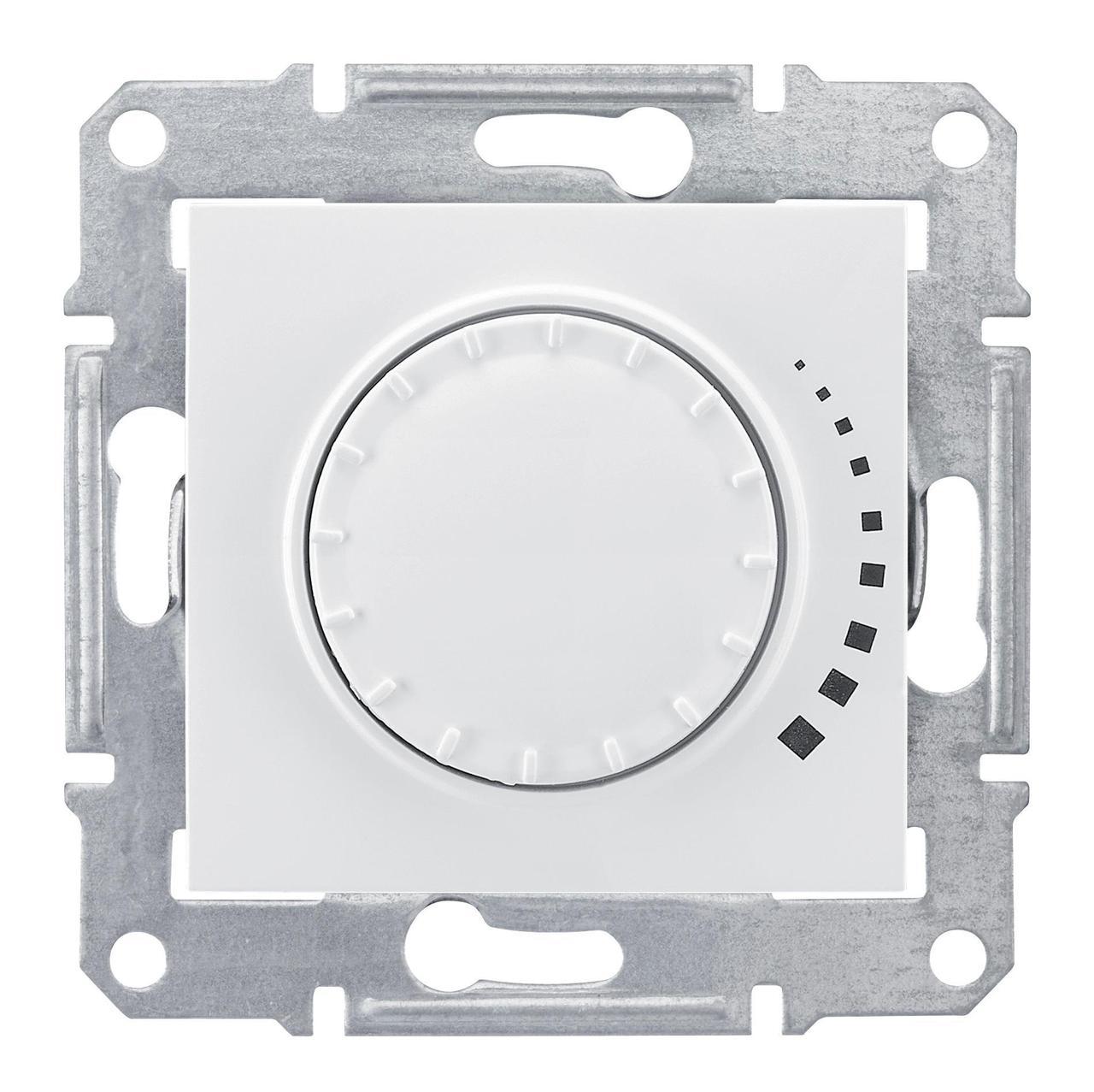 Диммер поворотно-нажимной , 400Вт LED универсальны , Белый, серия Sedna, Schneider Electric