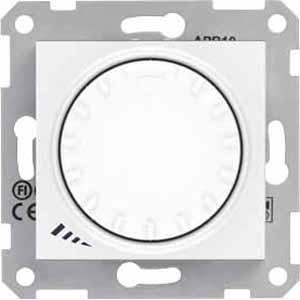 Диммер поворотный 1000Вт для ламп накаливания , Белый, серия Sedna, Schneider Electric