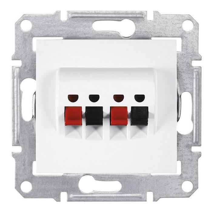 Розетка аудио для колонок 2-ая , Белый, серия Sedna, Schneider Electric