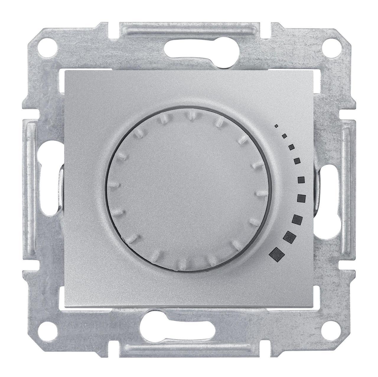 Диммер поворотно-нажимной , 400Вт LED универсальны , Алюминий, серия Sedna, Schneider Electric