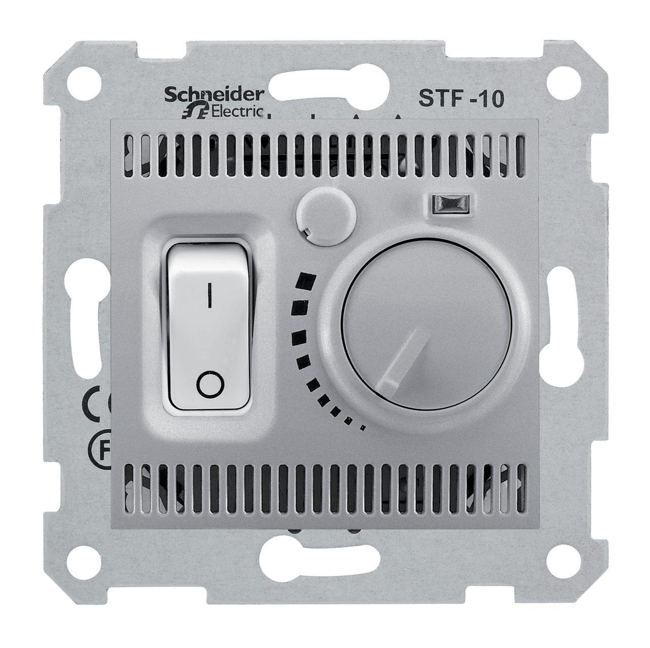Терморегулятор для теплого пола , Алюминий, серия Sedna, Schneider Electric