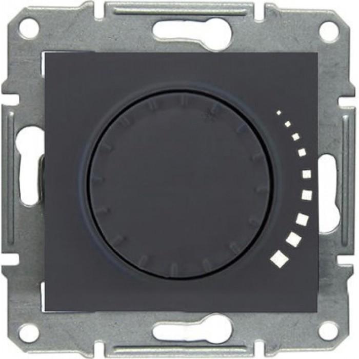 Диммер поворотный , 300Вт для ламп накаливания , Графит, серия Sedna, Schneider Electric