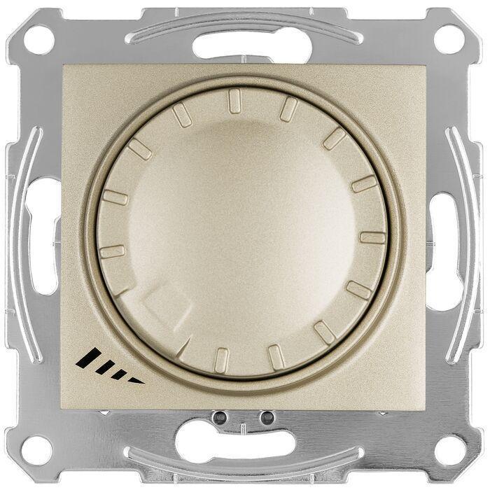 Диммер поворотно-нажимной , 400Вт LED универсальны , Титан, серия Sedna, Schneider Electric