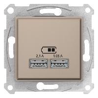 Розетка USB 2-ая (для подзарядки) , Титан, серия Sedna, Schneider Electric