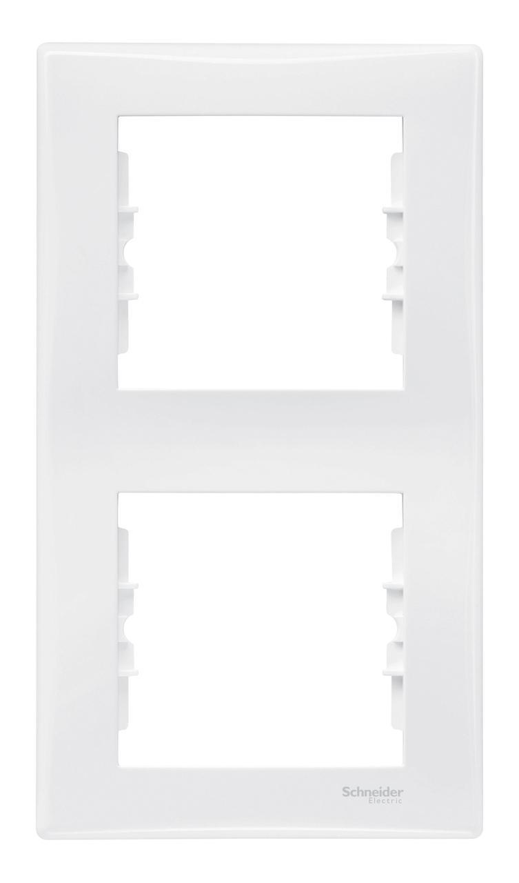 Рамка 2-ая (двойная) вертикальная, Белый, серия Sedna, Schneider Electric