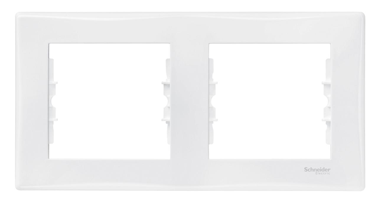 Рамка 2-ая (двойная), Белый, серия Sedna, Schneider Electric