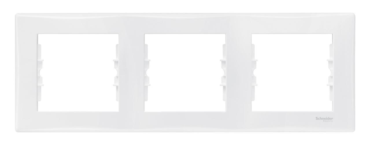 Рамка 3-ая (тройная), Белый, серия Sedna, Schneider Electric