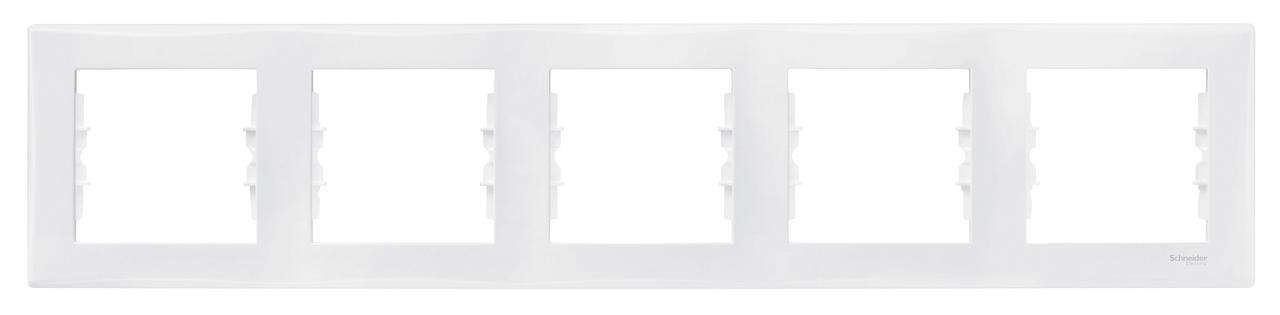 Рамка 5-ая (пятерная), Белый, серия Sedna, Schneider Electric