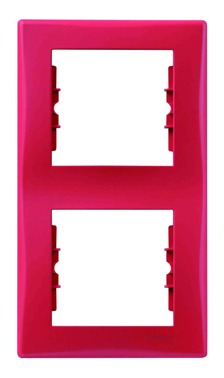 Рамка 2-ая (двойная) вертикальная, Красный, серия Sedna, Schneider Electric