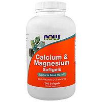 Кальций и Магний с витамином д 3 и цинк, Now Foods, 240 капсул