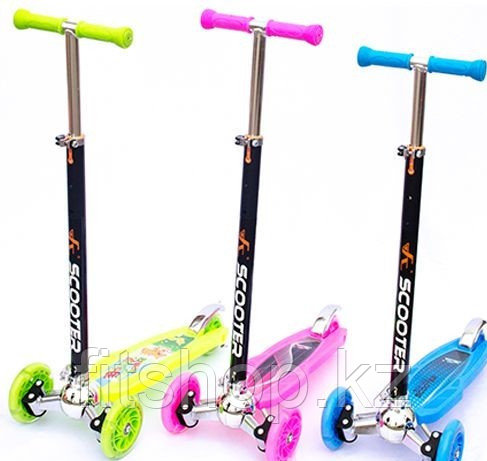 Детский самокат Scooter Exquisite усиленный, светящиеся колеса от 5 до 12 лет
