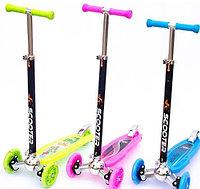 Детский самокат Scooter Exquisite усиленный, светящиеся колеса от 5 до 12 лет, фото 1