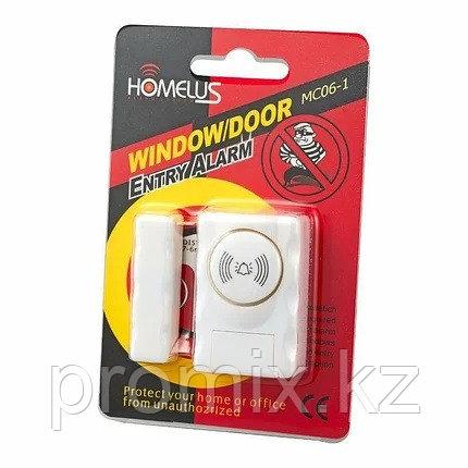 Датчик-сигнализация открывания дверей и окон с сиреной WINDOW/DOOR mc06-1