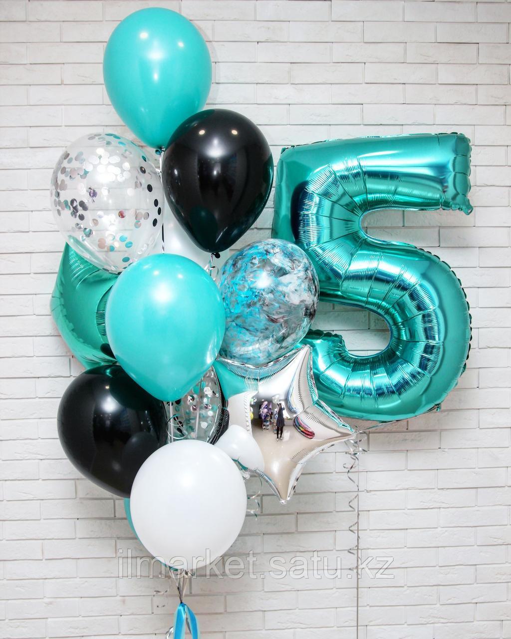 Цифра 5 с Клоуном и ходячие шарики смайлы Клоуны - фото 2