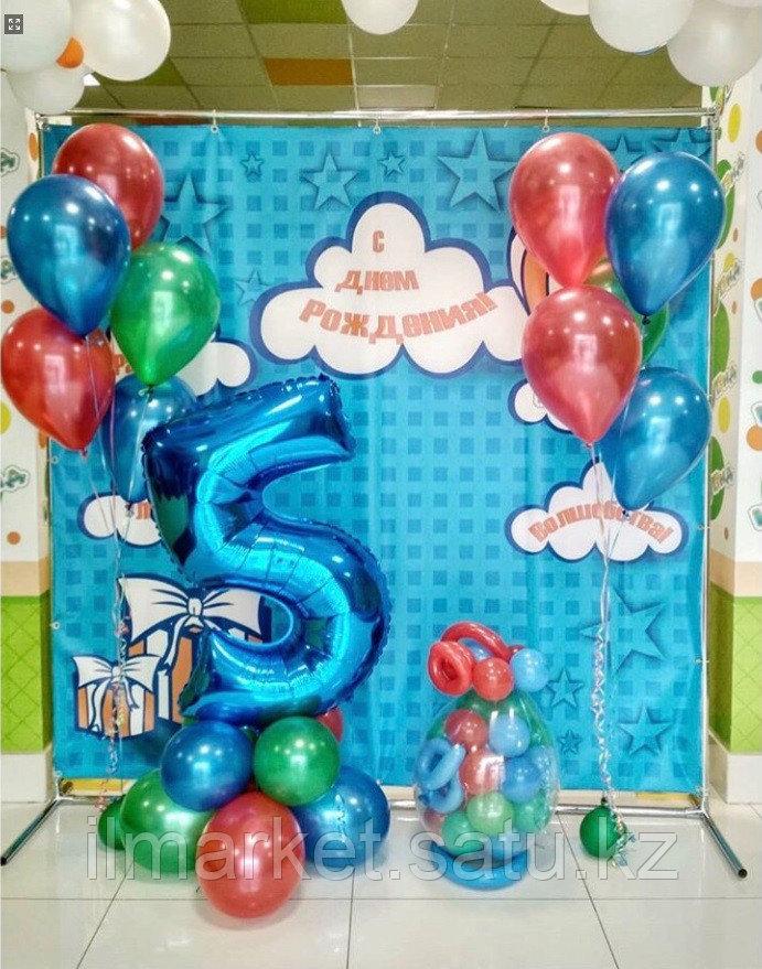 Цифра 5 с Клоуном и ходячие шарики смайлы Клоуны - фото 3