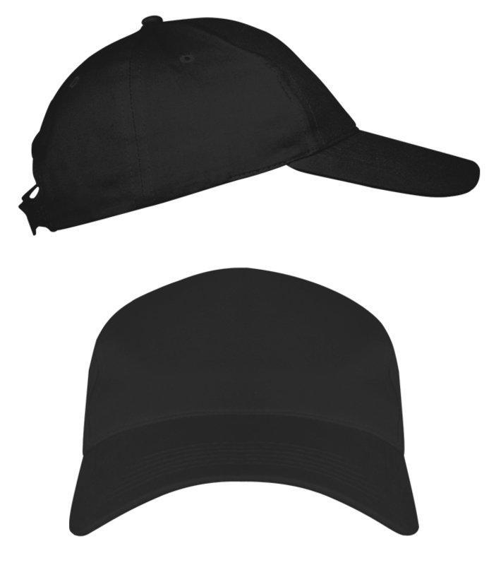 Черные промо кепки под нанесение логотипа