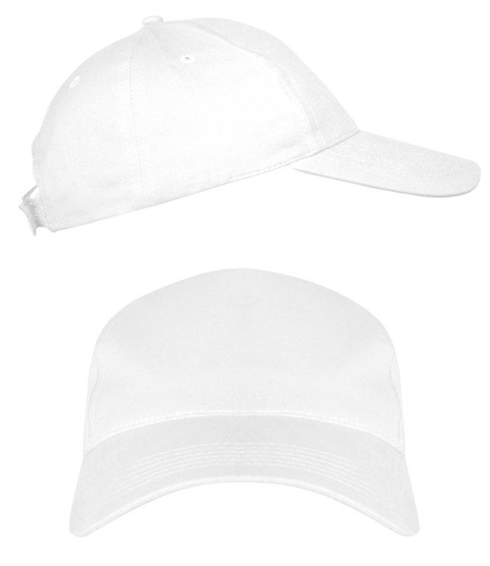 Белые промо кепки под нанесение логотипа