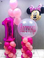 Цифра, Метровый шар с надписью, Мини Маус и Гелиевые шары