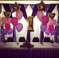 Оформление зала для Дня Рождения шариками