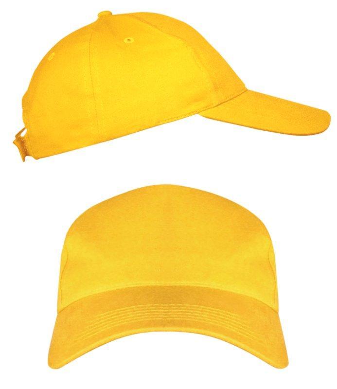 Желтые промо кепки под нанесение логотипа