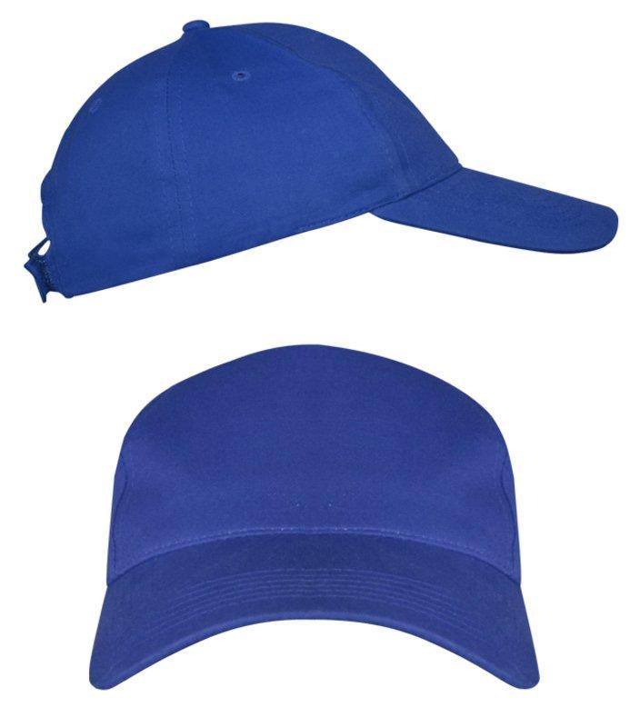 Синие промо кепки под нанесение логотипа