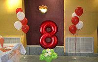Цифра 8 с шарами