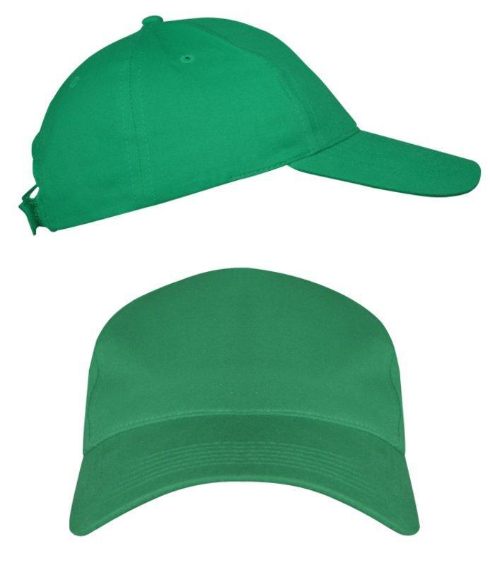 Зеленые промо кепки под нанесение