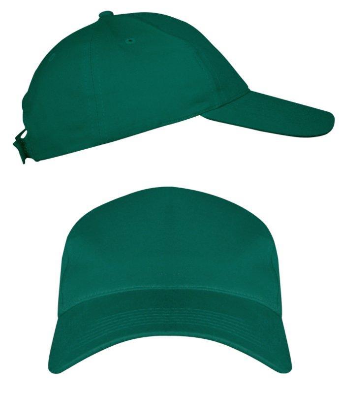Темно-зеленые промо кепки под нанесение